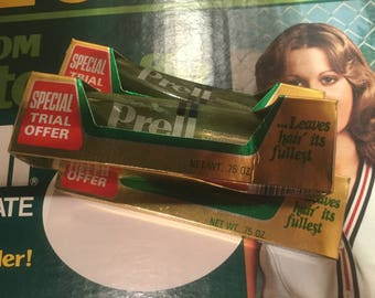 Three .75oz Trial Size Tubes of Prell Shampoo from the 1980s