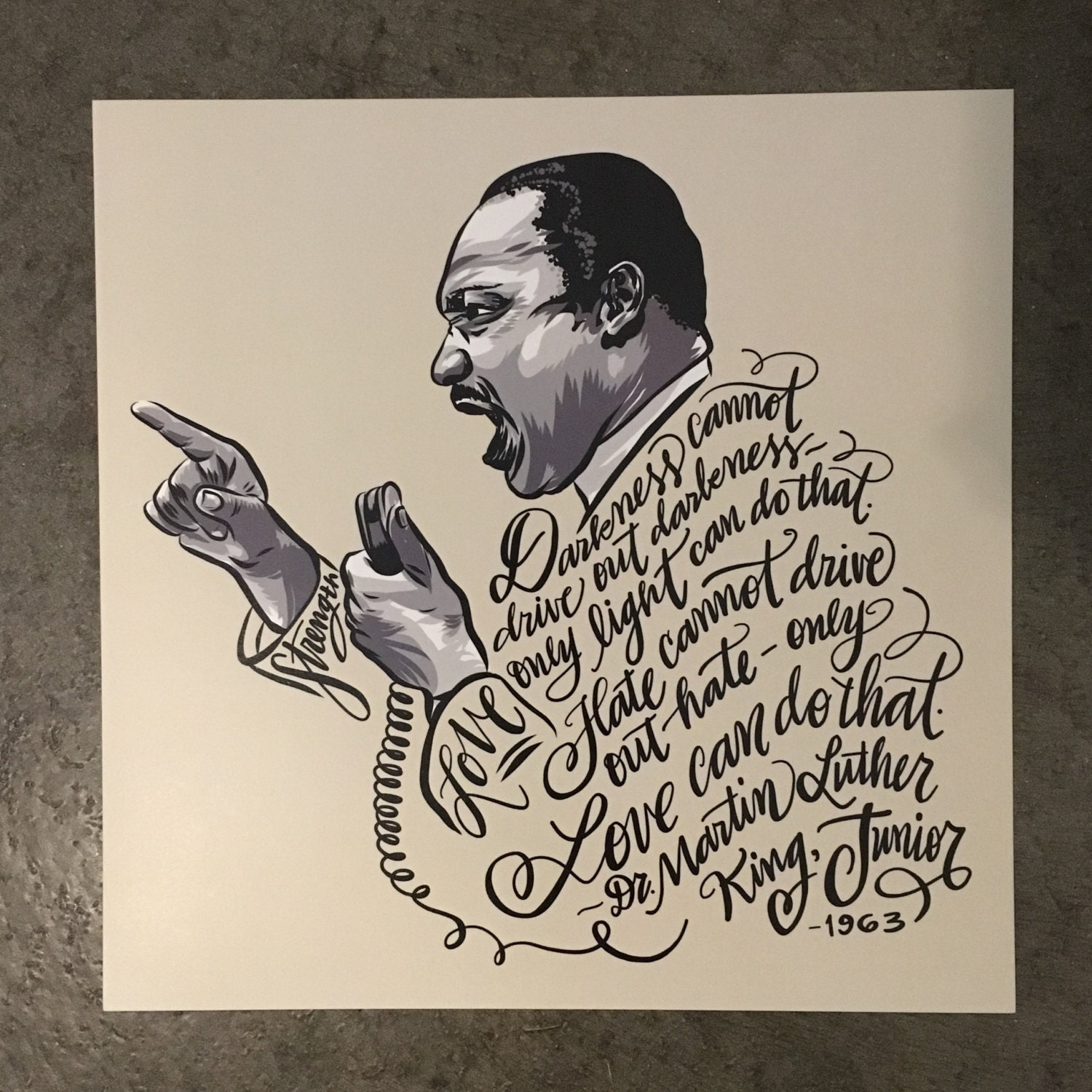 This is a graphic of Gargantuan Drawing Of Martin Luther King