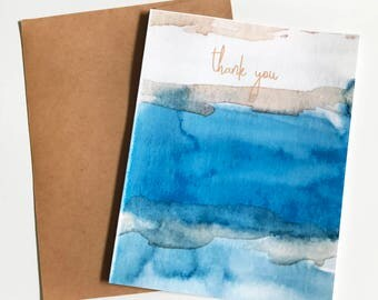 Thank You Blue River Watercolor single note card