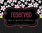 Reserved Listing for sonjap21