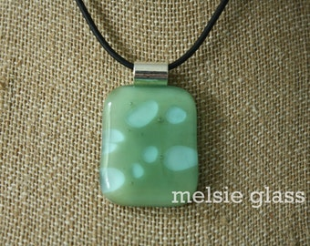 Bubbling Sea large green and aqua glass pendant