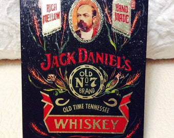 Vintage JACK DANIELS Whiskey Tin Container Tennessee Black Red Collectible