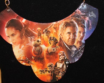 Star Wars The Force Awakens and Phantom Menace Statement Necklace