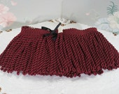 Maroon Bullion Upholstery Fringe 2 Yards