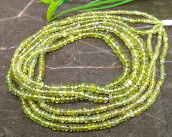 Natural Sapphire 2.5-5mm Faceted Rondelle Gemstone Beads / Approx 220 pieces on 16 Inch long strand / JBC-ET-144733