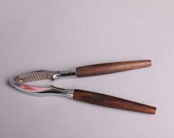 Mid century Danish modern rosewood handle nut cracker, nice!