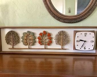 Syroco Four Seasons Midcentury Modern Clock