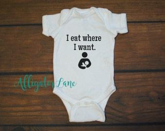 I eat where I want pro breastfeeding baby newborn toddler funny t shirt extended nursing graphic t ebf