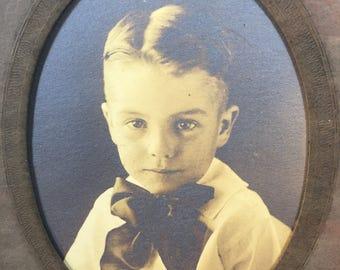 Antique Picture-Antique Picture Of Young Boy-Antique Portrait Of Young Boy