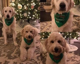 Cookie Tester Reporting for Duty Christmas Dog Bandana