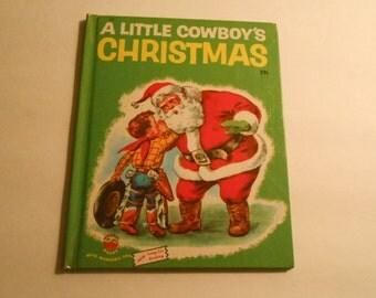 A Little Cowboy's Christmas Wonder Book Martin 1951 VG