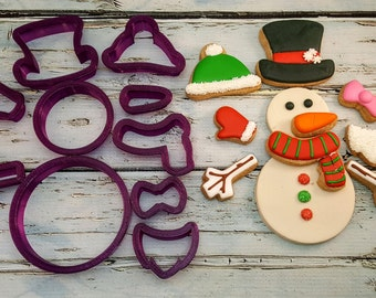 Build a Snowman Kit Cookie Cutter and Fondant Cutter and Clay Cutter