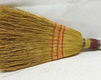 Vintage Whisk Broom- Hand Held Whisk Brush - Straw Whisk - Vintage Broom