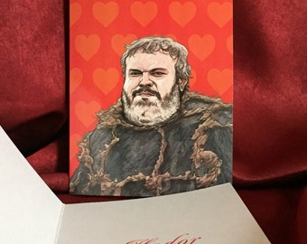 Hodor Valentine's Day Card Game of Thrones
