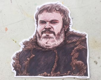 Bearded HODOR Game of Thrones STICKER!