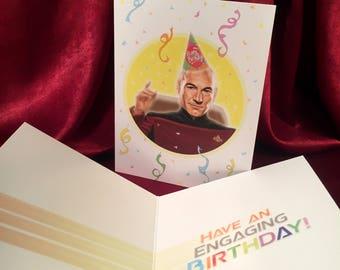 PICARD Star Trek Birthday Card!