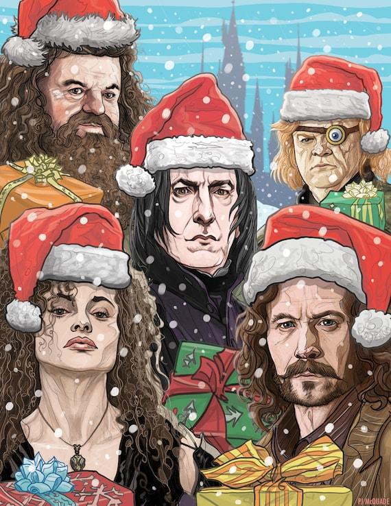 HARRY POTTER Christmas Card