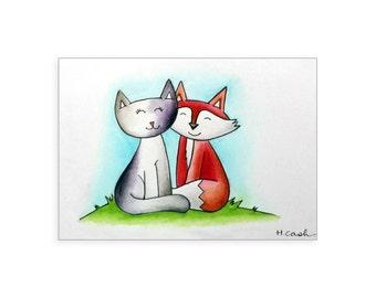 "Custom Mini Watercolor Sketch - 4""x6"""