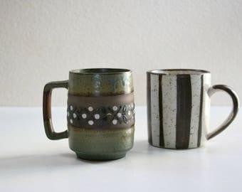 Vintage Mugs, Modern, Geometric