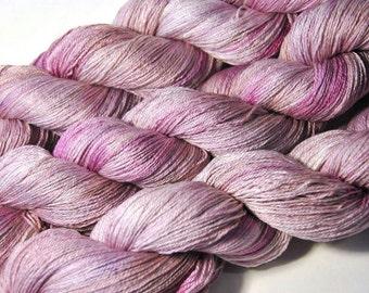 SAKURA Silk Merino Lace in Mauve Rose - One of a Kind