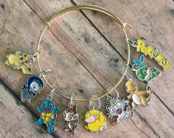 Pokémon Stitch Marker Bracelet - Set of 9 markers for your knitting project bag