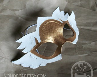 Valkyrie Angel Warrior Basic four winged mask - Handmade Leather Costume Fantasy - Renaissance Festival Masquerade
