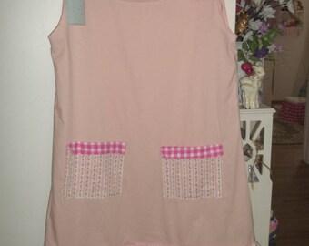 Handmade Summer Dress Pink White Rosebuds Gingham Ruffles XL Women's  JUST REDUCED
