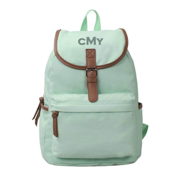 Washed Canvas Backpack in Mint