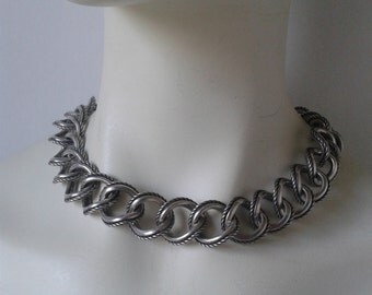 Silver necklace  from 90s   Mother's Day gift