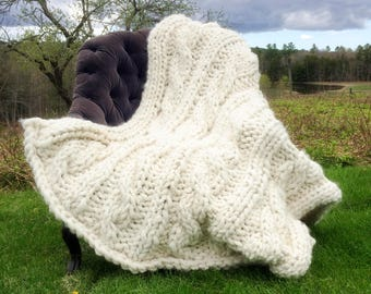 Luxurious Chunky Alpaca Throw Afghan Bedspread