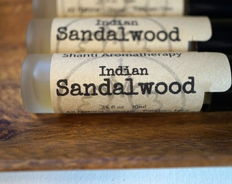 Indian Sandalwood Perfume Cologne - Unisex - Santalum album - Meditation Grounding
