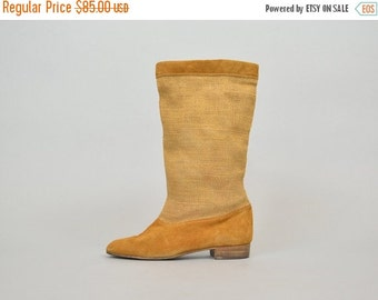 FEBRUARY SALE 80's Spanish Burlap Boots
