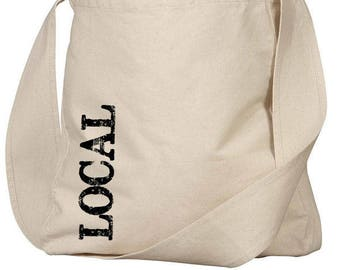 Farmers Market Tote, Organic Farmers Market Tote Bag, Buy Local, Made in USA
