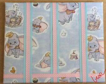 Baby Girls Dumbo Elephant Hair Bow Clip Clippie Holder Organizer Nursery Custom 9x12