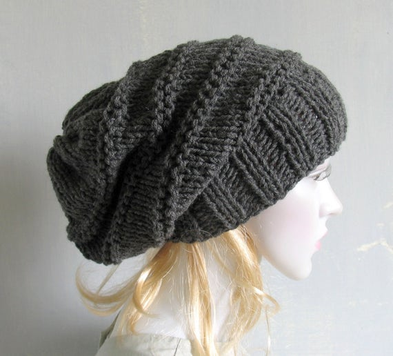 Women Hat Baggy Beanies cable knit JUMBO SLOUCHY Beanie Hat