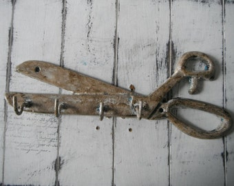 aged scissors hook sewing room decor tool hook wall hook craft room decor needle womans hook crafting hook grungy aged hook antiqued