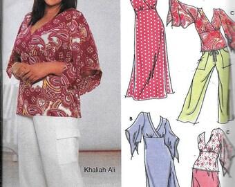 New Simplicity Pattern 5074 Khaliah Ali Dress Top Pants Skirt UNCUT Plus Size 18, 20, 22, 24