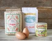 New Felt Food Flour, Sugar, Milk Baking Set