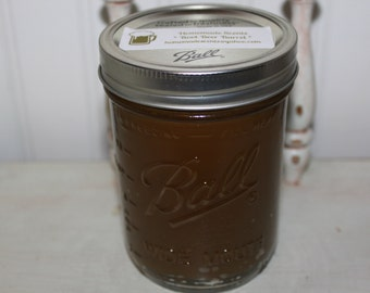 ROOT BEER BARREL Scented Handmade Primitive Canning Jar Candle- Super strong!