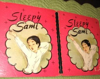 Sleepy Sami Spiral Hard Cardboard Cover 1946 Dorothy Blatter Drawings Anita Rogoff 38 pages USA