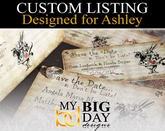 Ashley's Save the Date cards: 50, with white envelopes