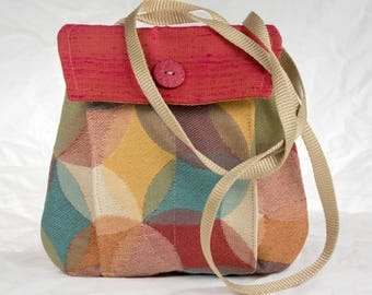 My Perfect Little Purse small purse cross body red yellow turquoise bag