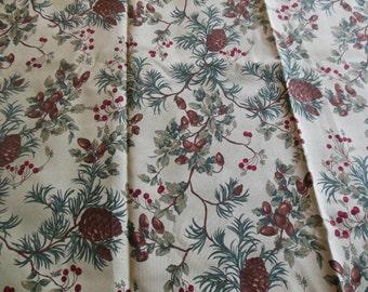 Moda Holly Taylor, Christmas at Horeseshoe Lodge Print Fabric, 54 X 74