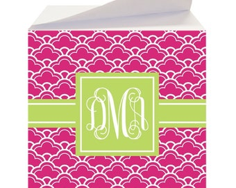 Personalized Notepad, Sticky Notes, Monogram Stationery, co worker gift, Custom Note cube, Office Supplies, To Do list, teacher gift