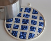 Blueberry Pie Hot Pad Pot Holder, kitchen fruit decor