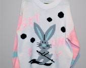 Vintage Sweater 80's Ski Bunny