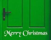 Merry Christmas Decal, Front Door Decal, Merry Christmas Window Decal, Christmas Window Decal, Entry Way Decal, Welcome Decal, Vinyl Decal