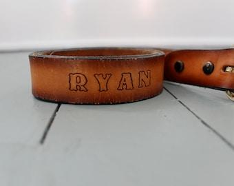 Tighten Up... Vintage  Children's Belt Tooled Leather Belt, Fashion, Children's Fashion, Ryan, Animals, Fish