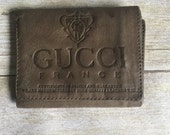 Vintage Leather Wallet - Tooled - Gucci