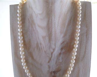 Ivory Freshwater Pearl Necklace UK made 20""